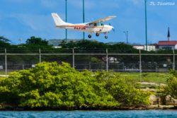 P4-FUN a Cessna 182D Skylane operated by SkyDive Aruba.