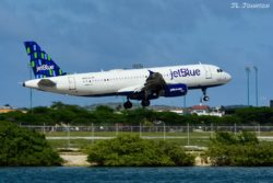 """Jetblue flight 873 from BOS carried by N646JB, an A320. This plane carries the name """"Bravo Lima Uniform Echo."""""""