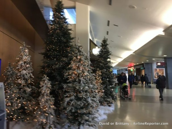 Christmas trees (or non-denominational decorated trees) at SEA