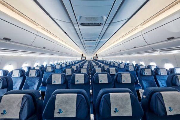 That's a lot of seats - the 10-abreast A359 economy cabin. Photo courtesy French Bee