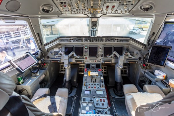 A peek at the ERJ135 flight deck