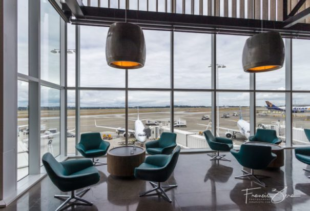Alaska's new flagship lounge is huge, comfortable, and offers great views of the runways at SEA