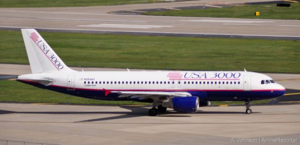 N264AV, an Airbus A320 spotted in St. Louis in September, 2010.