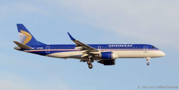 N170HQ, an Embraer ERJ-190 seen landing at Kansas City International in November, 2010.