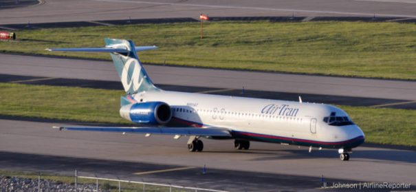 N991AT, a Boeing 717 spotted in St Louis, September 2010.