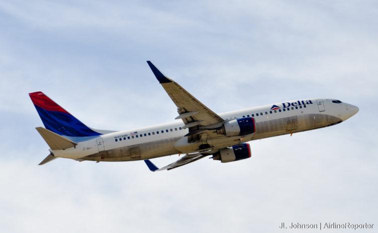N3734B, a 737-800 departs Memphis in October, 2010.