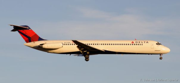 N755NC, DC-9-50 and former NW bird lands in Kansas City, November 2010 wearing updated livery.