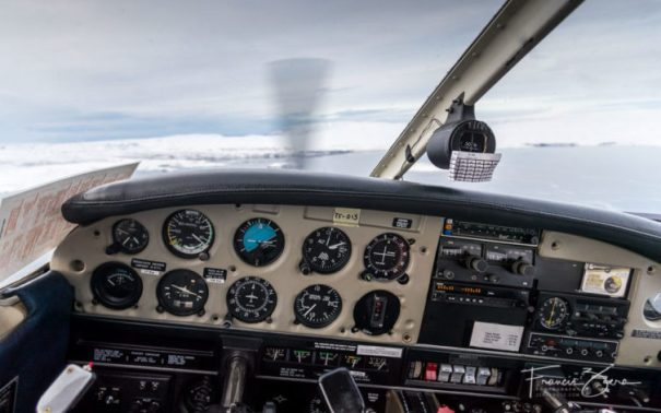 The view from the cockpit over Thingvellir national park