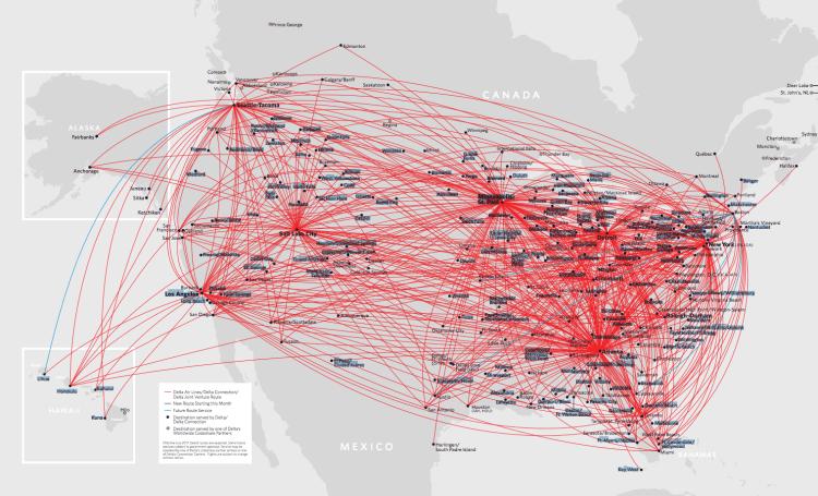 Delta Airline Route