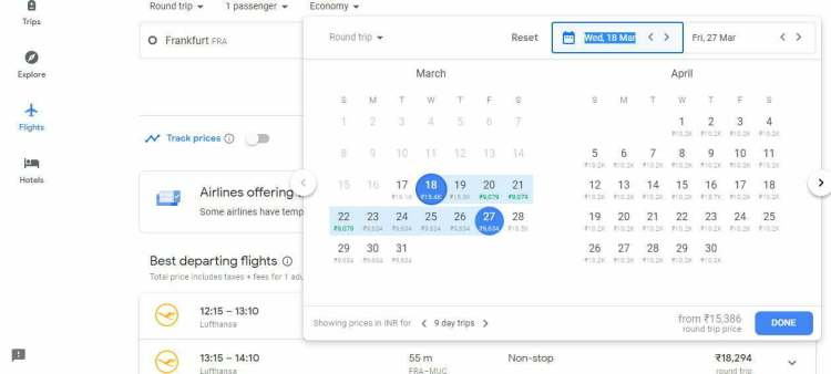 Book google flights usa