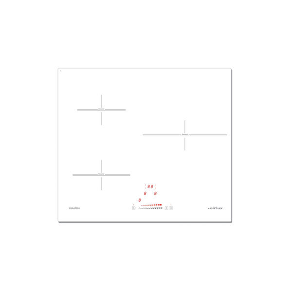 table induction blanche 3 zones 60 cm