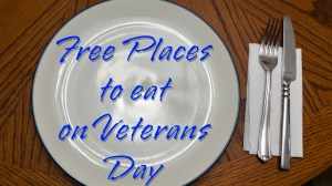 Free Meals on Veteran's Day 2014