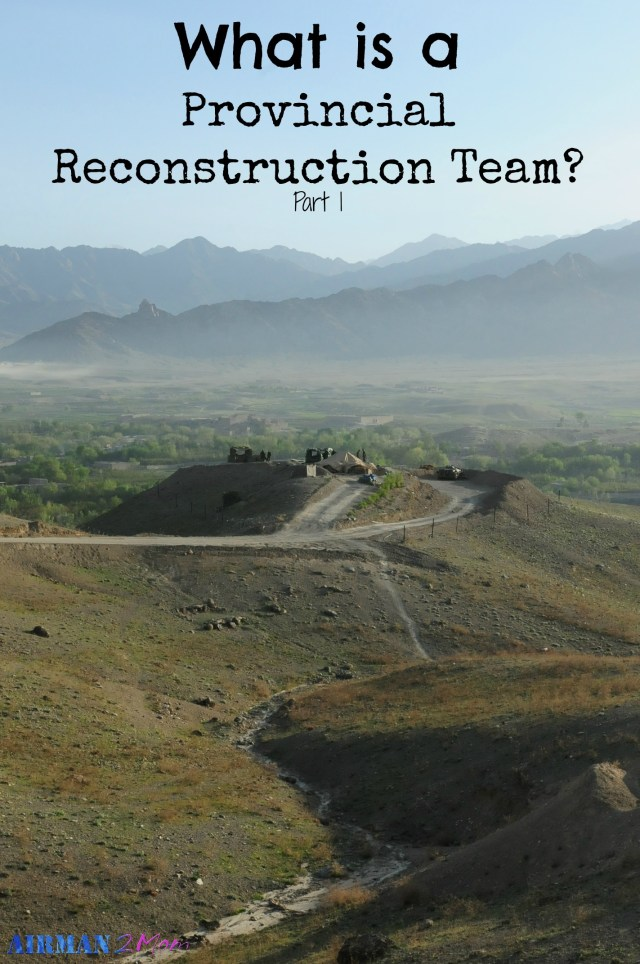 What is a Provincial Reconstruction Team (PRT) Check out my five part series breaking down the team, the missions, the work I did and the challenges we faced.