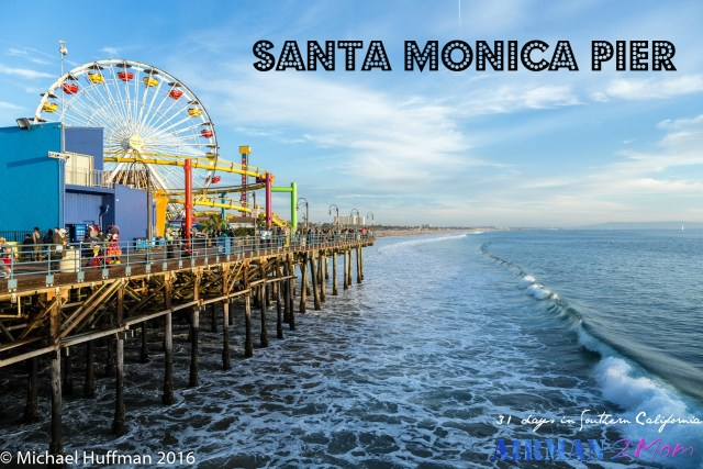 Santa Monica Pier makes for a great tourist stop on your LA road trip.