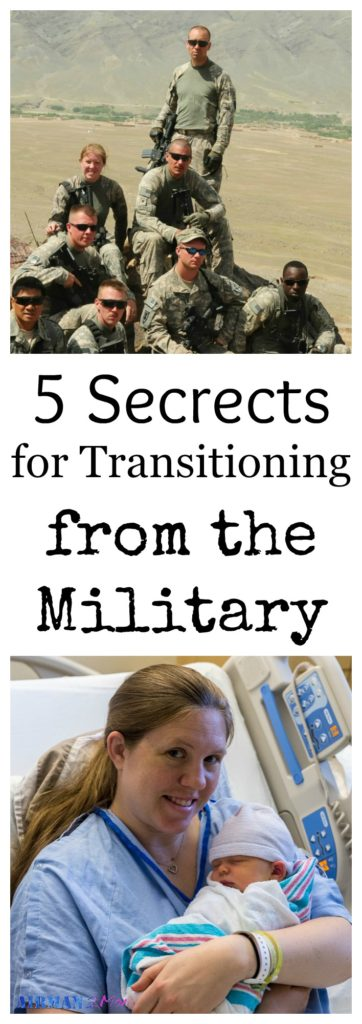 Here are my five secrets on transitioning from the military to mom life. Leaving the military is hard, but these tips can help make it easier.