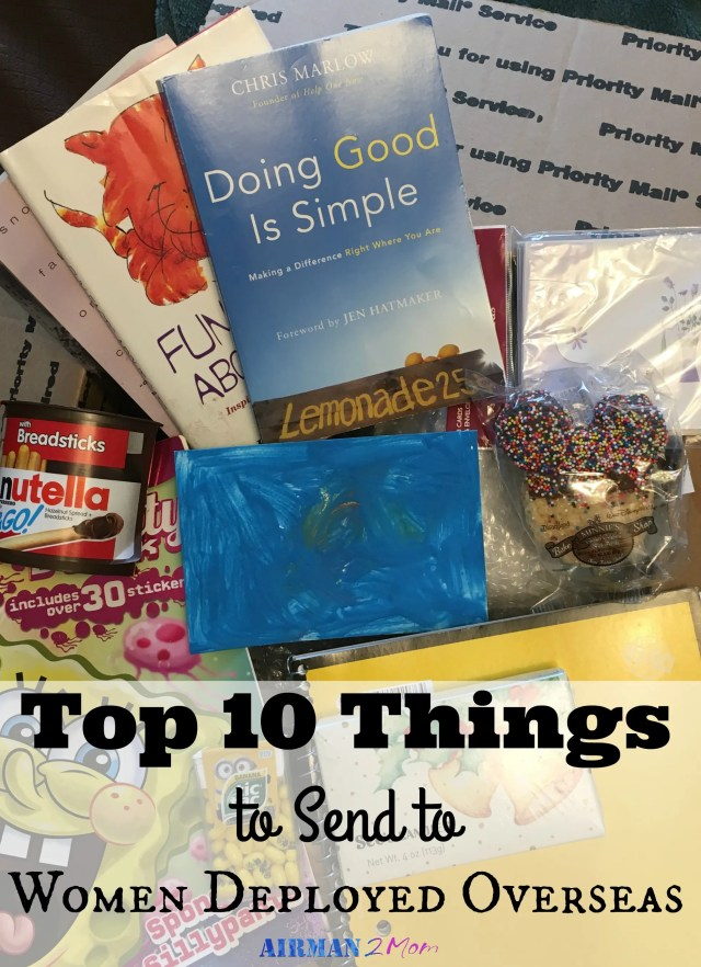 Don't know what to send a friend serving overseas. I have you covered with my top ten care package items for women serving overseas.