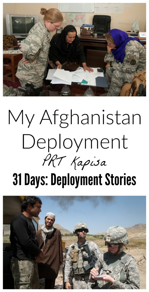 Here is the story of my Afghanistan Deployment. I was deployed to Afghanistan in 2010 on a Provincial Reconstruction Team. Read the full interview and learn about my experience. Day 3 of 31
