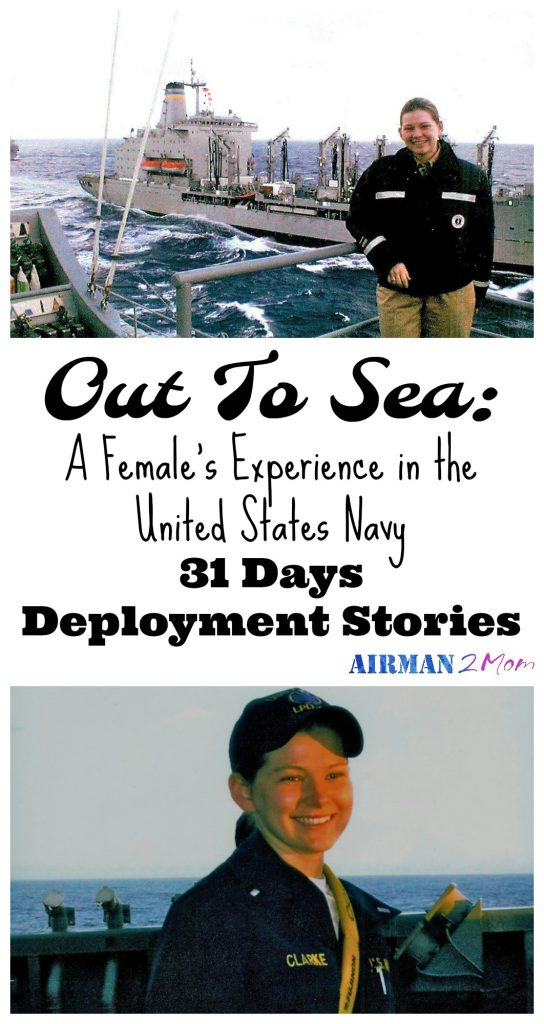 What is it like to serve on a Naval Vessel. The ratio of men to women can be daunting, but somehow she made it through. Read her whole story.