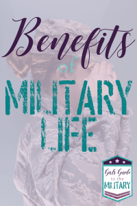 What are the benefits of military life? Amanda covers seven of the most common benefits of military life and how they can help you determine if the military is right for you. #jointhemilitary #militarybenefits #girlsguidetothemiliary #militarylife #militarywomen