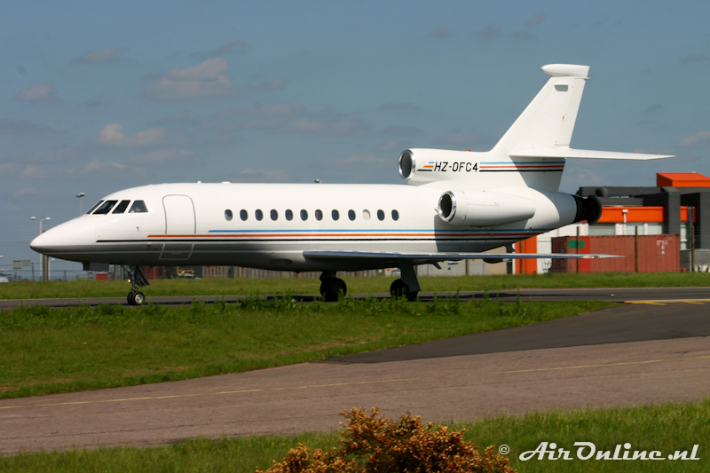 HZ-OFC4 Falcon 900EX, London Luton 23 mei 2007