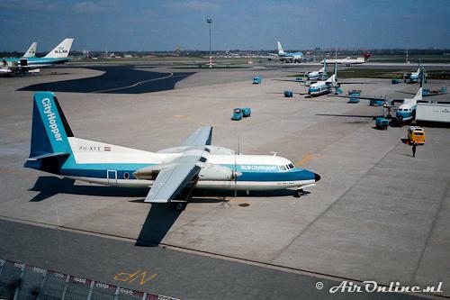 PH-KFE Fokker F-27 Friendship NLM CityHopper (Schiphol 1982)