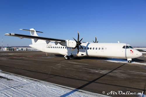 OY-CJV ATR 72-500 (Nordic Aiviation Capital A/S) Lelystad, 10 feb. 2012