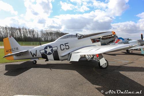 PH-JAT North American P-51D-NA Mustang (7 april 2012 Lelystad)