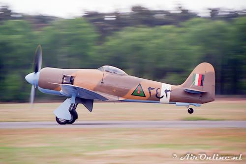 G-BTTA Hawker Fury FB10 Iraqi AF (Zoersel 1996)
