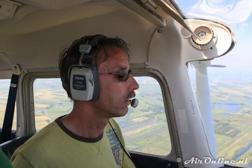 Hans was de chauffeur op deze international vlucht