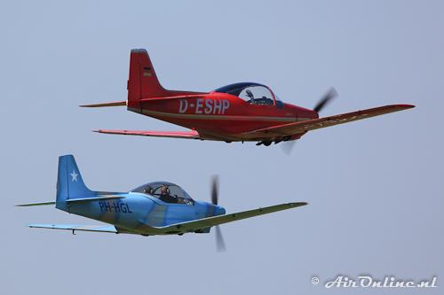 D-ESHP Aeromere F-8L Falco III en PH-HGL Sequoia F.8L Falco V