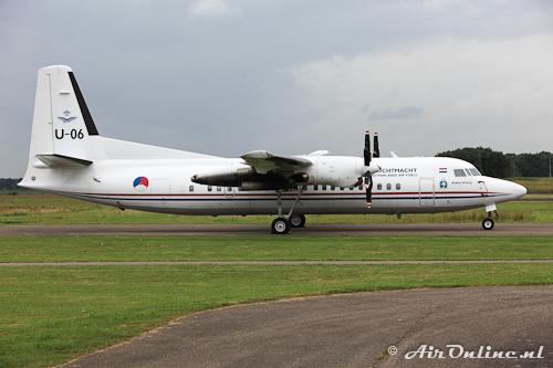 U-06 Fokker 50 stored op Lelystad