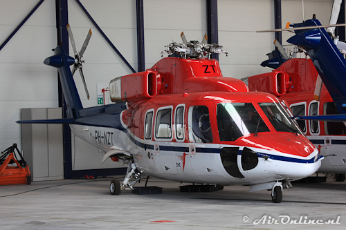 PH-NZT Sikrsky S-76B CHC Helicopters (zonder rotorbladen)