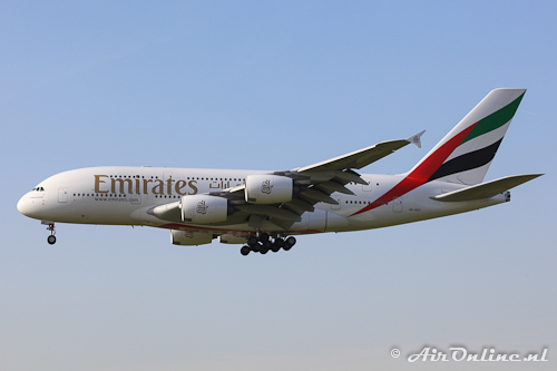 A6-EDT Airbus A380 Emirates