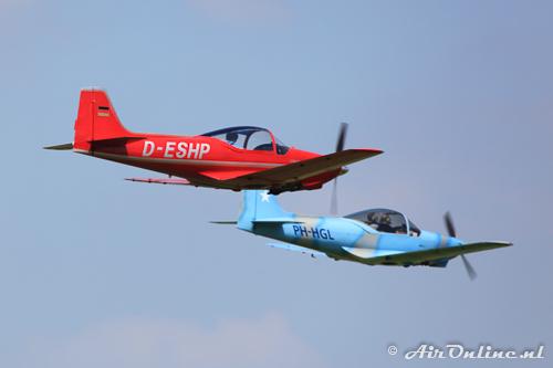 D-EHSP Aeromere F-8L Falco III en PH-HGL Sequoia F.8L Falco V