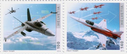 De twee postzegels die uitgegeven zijn