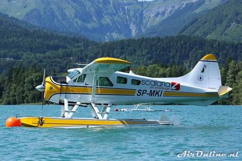 SP-MKI De Havilland Canada DHC-2 Beaver Mk1 op de Wolfgansee, Oostenrijk, juli 2014