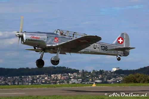 HB-RAR / U-136 Pilatus P2-06, Freibourg, Zwitserland, augustus 2014