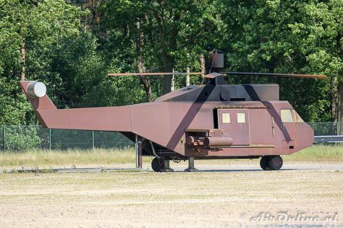 Mock-up van een helikopter