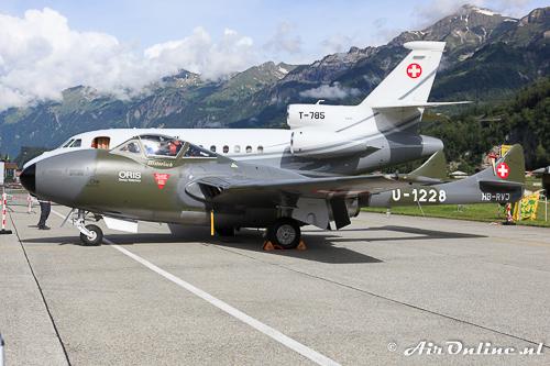 HB-RVJ De Havilland DH-115 (F+W Emmen) Vampire T55