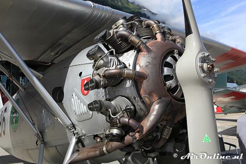 HB-RAG Dewoitine D.26 met de Hispano Suiza motor