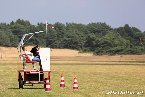 Air Traffic Control verwelkomt de bezoekers op Keiheuvel