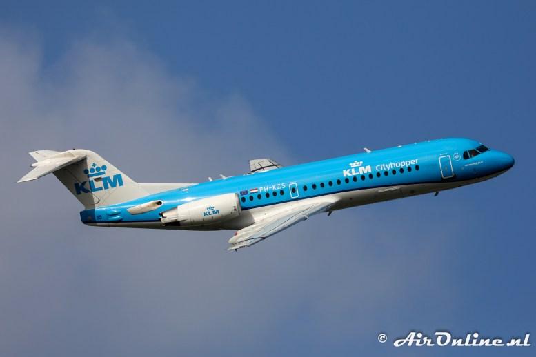 PH-KZS Fokker 70 KLM CityHopper