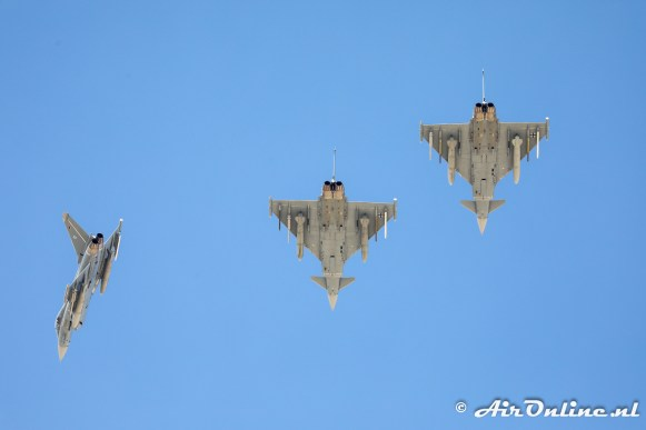 3x Eurofighter EF-2000 Typhoon German Air Force