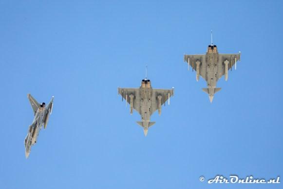 3x Eurofighter EF-2000 Typhoon German Air Force