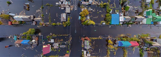 Flooding in Amur River, Russia, 2013 - AirPano.com • 360 Degree Aerial Panorama • 3D Virtual Tours Around the World