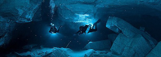 Orda Cave. The first underwater cave panorama in the world - AirPano.com • 360 Degree Aerial Panorama • 3D Virtual Tours Around the World