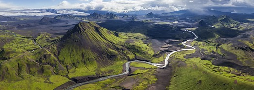 Fjallabak Nature Reserve, Iceland - AirPano.com • 360 Degree Aerial Panorama • 3D Virtual Tours Around the World