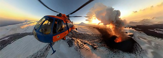 360 video, Plosky Tolbachik Volcano, Kamchatka, Russia, 2012 - AirPano.com • 360 Degree Aerial Panorama • 3D Virtual Tours Around the World