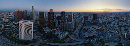 Los Angeles at dusk, CA, USA - AirPano.com • 360 Degree Aerial Panorama • 3D Virtual Tours Around the World