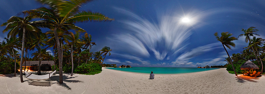 Night Maldives  - AirPano.com • 360 Degree Aerial Panorama • 3D Virtual Tours Around the World